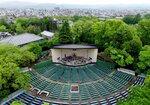 会場となる円山公園音楽堂(京都市東山区)=小型無人機から、2017年撮影