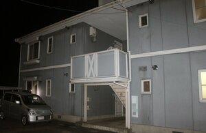 小林容疑者らが同居していたアパート(滋賀県愛荘町東出)※画像の一部を加工しています