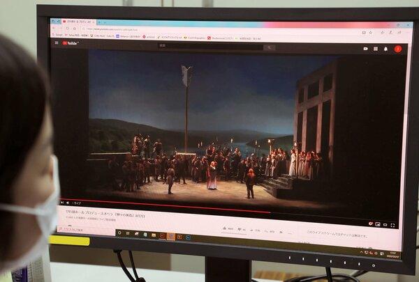 びわ湖ホールで行われたオペラを同時配信する動画サイト