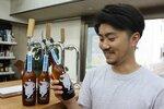 江州音頭をイメージして発売する地ビール(日野町大窪・酢屋忠本店)