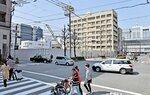 ホテルの建設ラッシュが続く京都駅南側。地価押し上げの大きな要因となっている(京都市南区東九条)