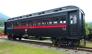 譲渡先を募っている「ハ10」。旧加悦鉄道で活躍した=加悦鐵道保存会提供