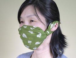バンダナで作ったマスクカバー