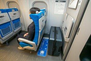 特大荷物スペース付きの座席(JR東海提供)