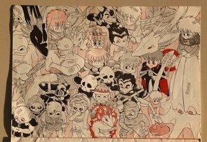 文芸部の部室から見つかった高校時代の武本さんのイラスト