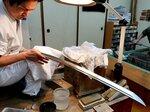 明治時代に奉納されて以来、初めて研ぎに出された刀「兼氏」(京都市左京区・玉置美術刀剣研磨処
