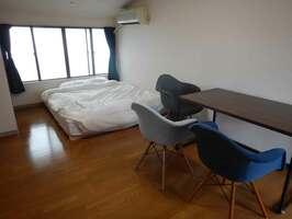 最大で7連泊できる個室