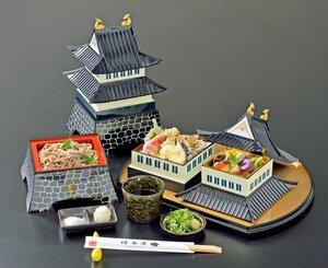 園部城の三重櫓をイメージした弁当(提供写真)