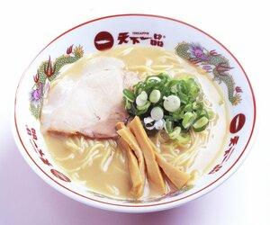 木村会長が開発したスープが特徴の「こってりラーメン」