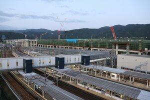【資料写真】北陸新幹線の建設工事が進む敦賀駅(福井県敦賀市)