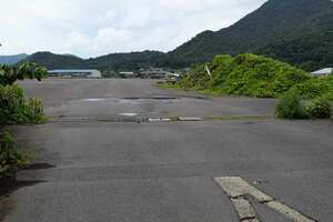 パーム油を使ったバイオマス発電所の建設が計画されている土地(舞鶴市喜多)