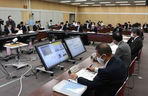 10月下旬以降の感染状況などを確認した京都府の新型コロナウイルス対策本部会議(京都市上京区・府庁)