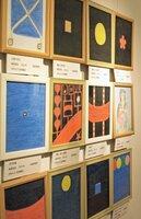 「いのちの表現展」で展示された林死刑囚の絵画作品(2013年12月、京都市下京区・東本願寺)
