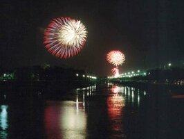 彦根大花火大会(2002年8月、彦根市・彦根港周辺)
