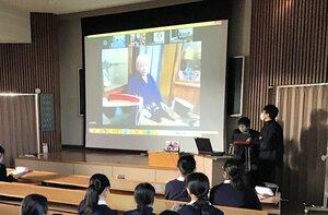神奈川県の私立中と京都をつないで行われたオンライン修学旅行(神奈川県藤沢市)
