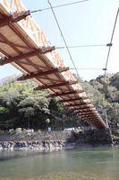 橋の下部の桁や梁などは色目が濃いボンゴシが使われている