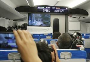6月、米原―京都間で走行試験を行った東海道新幹線の新型車両「N700S」の車内