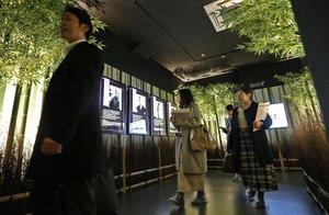 竹林を抜けるように演出された「麒麟がくる 京都大河ドラマ館」のエントランス(9日午後1分56分、京都府亀岡市追分町)