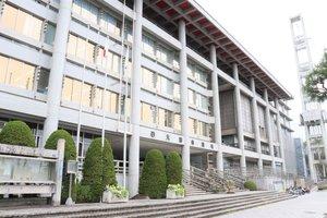 25日から全面閉鎖される大津市役所(大津市御陵町)