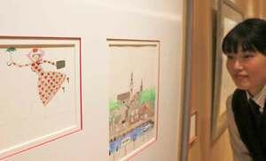 安野さんが挿絵として描いた空を飛ぶメアリ・ポピンズ(京丹後市久美浜町・「森の中の家」)