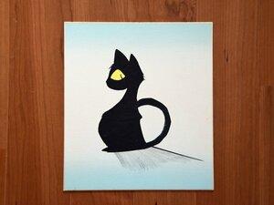 渡邊さんが絵の道に進むきっかけの一つとなった黒猫の切り絵